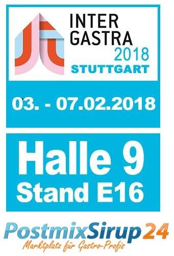 PostmixSirup24 - Intergastra Stuttgart 2018